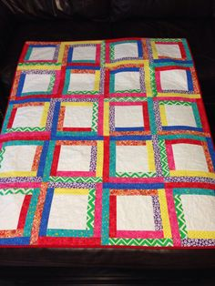 Custom order memory quilt. Buyer putting preschool classmates handprints in each square.