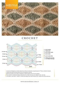 Love this design and the colors - crochet pattern with diagram
