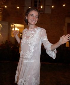 After dinner I changed into this Alberta Ferretti short dress for dancing and wore my Valentino lace espadrilles since my mother's ballet slippers were a size too big! I saw this dress on the runway last spring and fell in love. I can't wait to wear it again and think of this night.