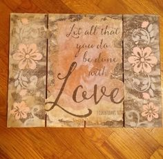 Check out this item in my Etsy shop https://www.etsy.com/listing/453855658/love-wall-decor