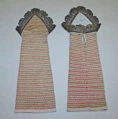 Mitts, 18th century, British, silk (knitted). Length: 13 1/2 x 5 in. (34.3 x 12.7 cm). Met, 13.49.11a, b.