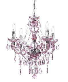 Love this Light Pink Naples Four-Light Chandelier on #zulily! #zulilyfinds
