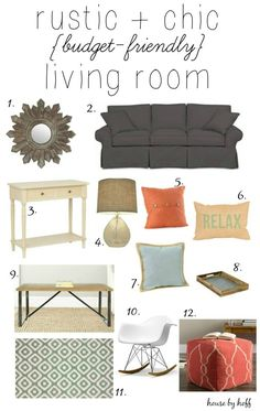 Rustic & Chic Budget-Friendly Living Room Inspiration - House by Hoff