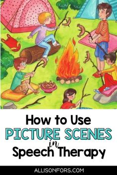 Using picture scenes in speech therapy is a win-win! Kids love to talk about pictures and this activity targets multiple goals: conversations, vocabulary, verbs, WH questions, sentence formulation, following directions, inferences, nouns & pronouns, prepositions, and more. Even reluctant kids find conversation scenes irresistible. They can also be used as writing prompts. Be sure to check out my FREE picture scenes! Pronoun Activities, Speech Therapy Activities, Language Activities, Activities For Kids, Inference Pictures, Writing Pictures, Sign Language, Speech And Language, Letter G Worksheets