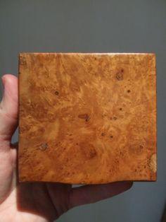 Delightful c1920s ART DECO Antique MAPLE Wooden TABLE SNUFF or TRINKET BOX