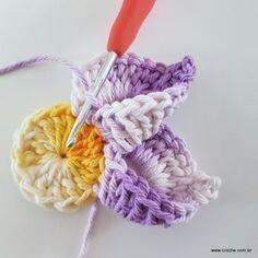 Layered 12 Petals Crochet Flower For Dec - Gardening - DIY & Crafts Crochet Flower Tutorial, Crochet Flower Patterns, Crochet Doilies, Crochet Flowers, Diy Crafts Crochet, Easy Crochet, Crochet Projects, Knit Crochet, Pinterest Crochet