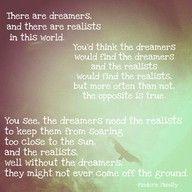 i needa find me a dreamer...but a hardworking dreamer. haha