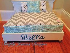 Little Miss Lucy Pet BedDog BedCat Bed by SimplyJeanna on Etsy, $175.00