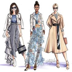 """20.6k Likes, 88 Comments - Holly Nichols (@hnicholsillustration) on Instagram: """"What's your #streetstyle? (A project from last season with @ebay) #NYFW #fashionweek…"""""""