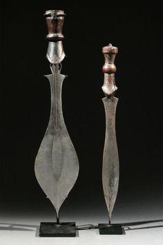 A Wongo and a British-Made Wongo-Style Blade, Uganda/D.R. Congo Early 1900's