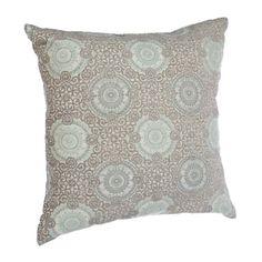 Aqua Stone Spiral Pillow