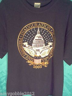 2005 Bush/Cheney Presidential T Shirt.Bids still under $3,less than 17 hours left to bid!Free priority shipping!