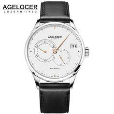 AGELOCER Luxury Brand Watch For Men Stainless Steel Clock Male Diver Watch Mens Shockproof Waterproof Wristwatch Relogio