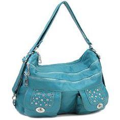 Light Blue Stone Washed Handbag
