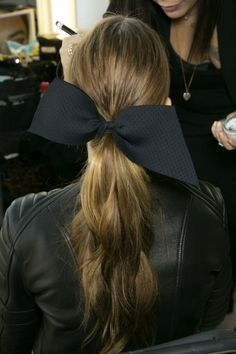 black bow #hairstyle // Discover more about Lady Marshmallow: www.ladymarshmallow.com