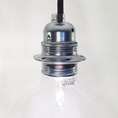 Lamphållare krom E27 med-utan textilsladd