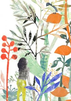Flowers and foliage illustration Art And Illustration, Botanical Illustration, Foto Art, Gravure, Painting Inspiration, Collage Art, Illustrators, Watercolor Paintings, Drawings