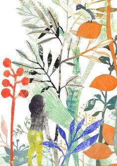 Flowers and foliage illustration Art And Illustration, Illustration Mignonne, Botanical Illustration, Illustrations Posters, Art Du Collage, Illustration Botanique, Foto Art, Art Graphique, Art Design