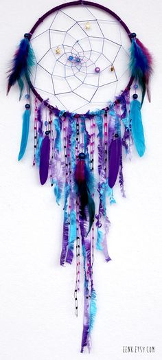 mobile dreamcatcher | Cosmic Galaxy Native Style Woven Dreamcatcher by eenk on Etsy