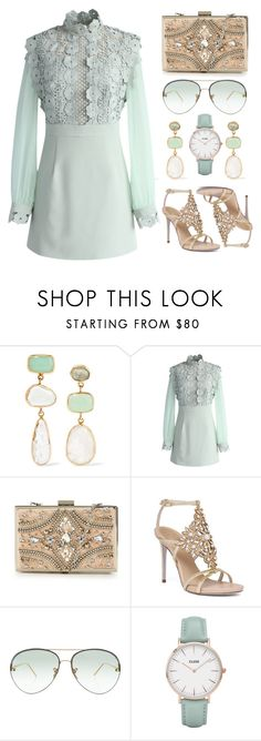 """Under $100"" by the-messiah ❤ liked on Polyvore featuring Melissa Joy Manning, Chicwish, Forever Unique, René Caovilla, Linda Farrow and CLUSE"