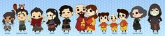 TLOK - Korra, Bolin, Pabu, Asami, Tahno, Tenzin, Pemma, Ikki, Meelo, Jinora, Lin, Amon [ Ah! So cute! ]