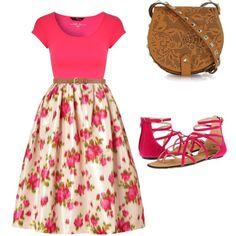 Pentecostal outfit | floral print skirt