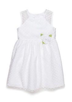 Marmellata  Flocked Dot Flower Girl Dress Toddler Girls