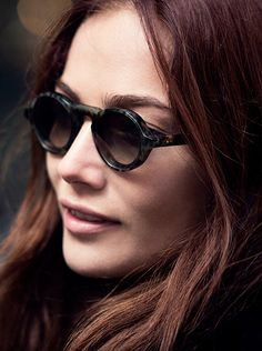 Clara Paget pictured during the campaign shoot, wearing new Burberry eyewear for A/W15