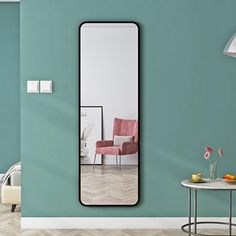 6 Basic Items From Shopee For The Minimalist Home | Qanvast Minimalist Interior, Minimalist Home, Circular Coffee Table, Japanese Interior Design, Wall Mounted Mirror, Floor Space, Home Look, Interior Design Living Room, Lighting Design