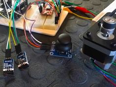 Control the direction and speed of a Stepper Motor with Joystick, the Easy Driver controller, some limit switches and an Arduino UNO.
