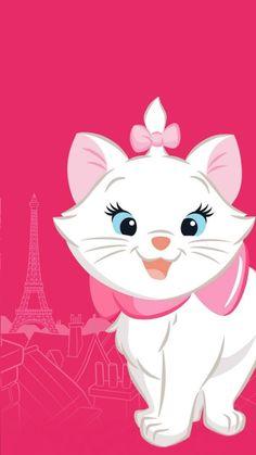 Cute Disney Wallpaper, Cartoon Wallpaper, Cool Wallpaper, Iphone Wallpaper, Disney Films, Disney Cartoon Characters, Disney Cartoons, Marie Cat, Gata Marie