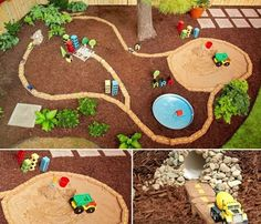 Backyard Projects for Kids: DIY Race Car Track – Architecture & Engineering Diy Garden Projects, Projects For Kids, Diy For Kids, Project Ideas, Backyard Playground, Backyard For Kids, Backyard Ideas, Modern Backyard, Amusement Enfants