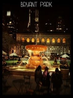 It is beautiful at Night there. Bryant Park | Midtown, New York City via Gogobot
