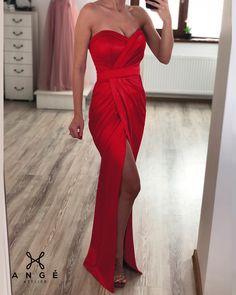Rochie Rosie Lunga Sirena Banchet Mulata Corp Corset Model AngeAtelier.ro Evening Dresses, Formal Dresses, Model, Red, Fashion, Vestidos, Atelier, Evening Gowns Dresses, Moda