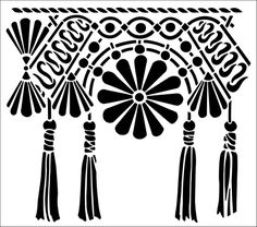 Macrame Border stencil from The Stencil Library online catalogue. Buy stencils online. Stencil code 268.