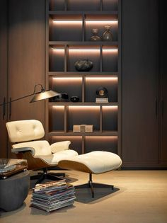 Shelving Design, Bookshelf Design, Living Room Tv, Living Room Interior, Office Interior Design, Office Interiors, Muebles Home, Study Room Design, Decoration Design
