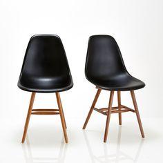 Chaise coque plastique (lot de 2), watford noir La Redoute Interieurs | La Redoute
