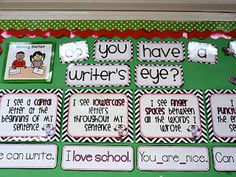 Another great idea for a writing corner #teaching  http://firstgradefresh.blogspot.com.au/2012/01/workstation-revamp-silly-sentences.html