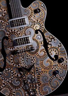 Beautiful Gretsch Guitar Custom Artwork | Galaxy | Sarah Gallenberger