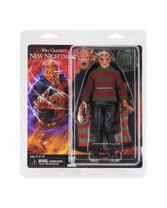 NECA Toys revealed the packaging of their upcoming A Nightmare On Elm Street Clothed New Nightmare Freddy Figure, which is inspired from the 1994 film Wes Craven's New Nightmare. New Nightmare, Nightmare On Elm Street, Freddy Krueger, Horror Action Figures, Wes Craven, Top Toys, Iconic Characters, God Of War, Horror Art