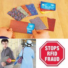 RFID CREDIT CARD SLEEVES   Get Organized