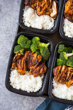 20 Minute Meal-Prep Chicken and Broccoli Quick and Easy Healthy Lunch Ideas Healthy Lunch Ideas are Meal Prep For Work, Lunch Meal Prep, Meal Prep Bowls, Easy Meal Prep, Easy Meals, Easy Snacks, Freezable Meal Prep, Low Calorie Meal Prep Lunches, Meal Prep Salads