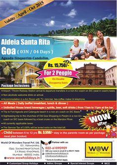 Goa 3N / 4D - Unlimited Fun @ just Rs. 15,750 per couple. Book Now!!  Call: +91-22-61090909 to know more.  #goa   #goaholidays   #goatourpackage   #wowgoa   #wow   #worldofwonders   #worldofwonderstravel   #wowholidays