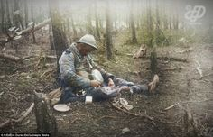 Incredible Colorized Photos of French Army During World War I - Page 3 of 3 - History Daily Life Is Like, What Is Life About, World War One, First World, Ww1 Soldiers, Colorized Photos, War Photography, French Army, Military Photos