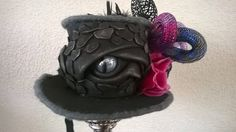 Dragon eye mini top hat made by Lady Mallemour