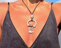 collar largo, colgante, collar, joyería Bohemia, plata, collares plata, collares para mujeres, collares de mujer, plata