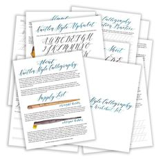 Premium Calligraphy Worksheet Set {Kaitlin Style}