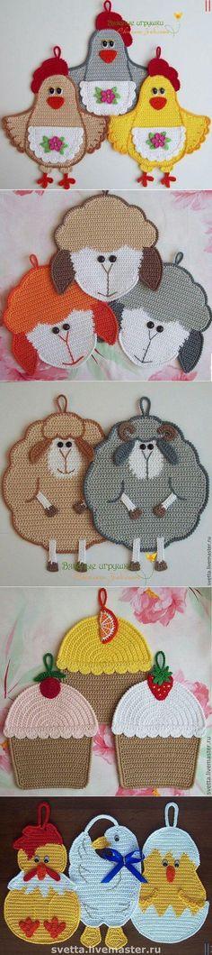 Ideas For Crochet Dishcloth Kitchens Stitches Crochet Kitchen, Crochet Home, Love Crochet, Crochet Motif, Crochet Crafts, Crochet Projects, Knit Crochet, Filet Crochet, Knitting Patterns