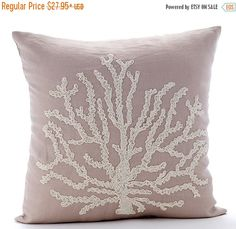 15% HOLIDAY SALE Mocha Throw Pillow Covers  by TheHomeCentric