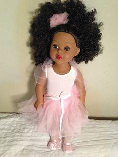 "Madame Alexander Black African American Ballerina 18"" Doll ~ USED"